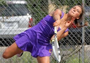 OHS tennis team member Lindsay Holsen